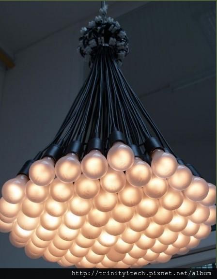 多颗球泡吊灯