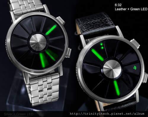 watch with green led