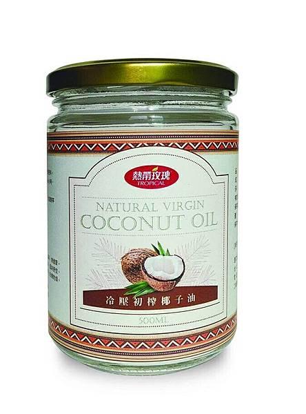 熱帶玫瑰冷壓初榨椰子油500ml.JPG