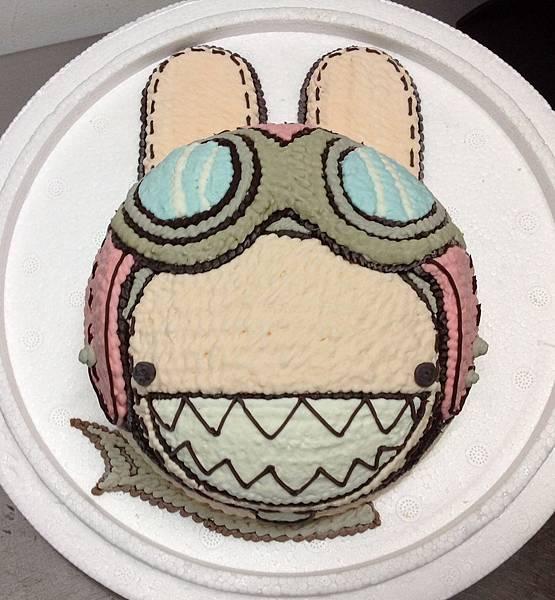卡通-兔-飛行兔-1