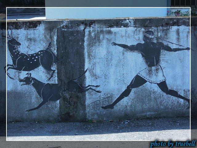 獵人打獵的壁畫