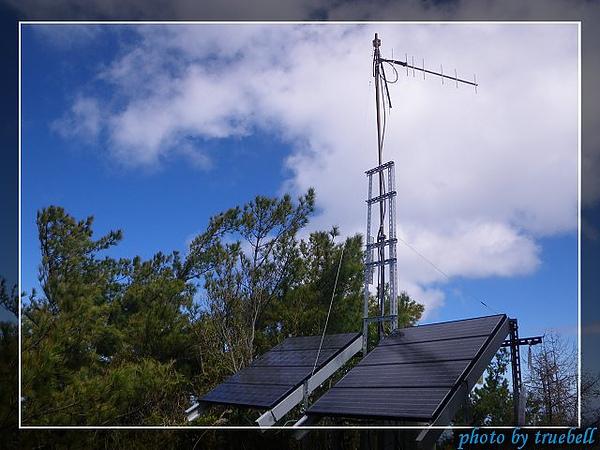望鄉山的太陽能板