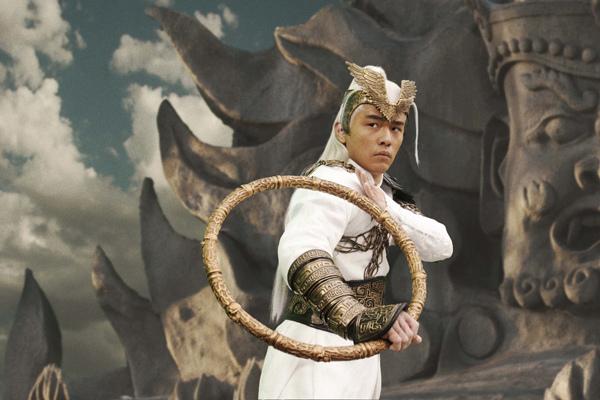 0115 新聞劇照-周杰倫飾演武神手持金圈