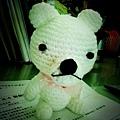 雅菱親手做的小白熊