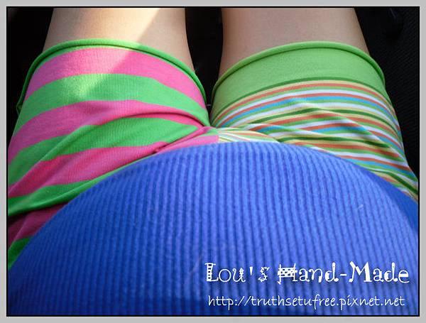 螢光綠孕婦褲4