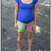 螢光綠孕婦褲1
