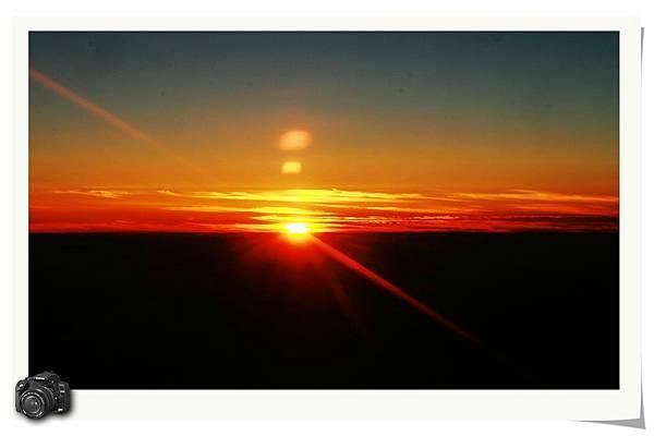 三萬英呎的日落