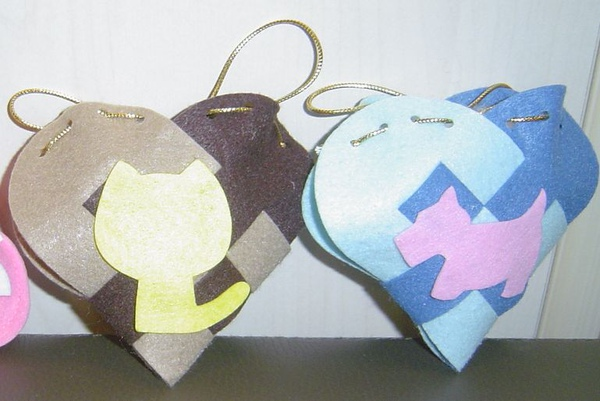 心型手編袋