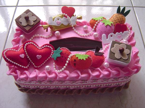 草莓蛋糕面紙盒套