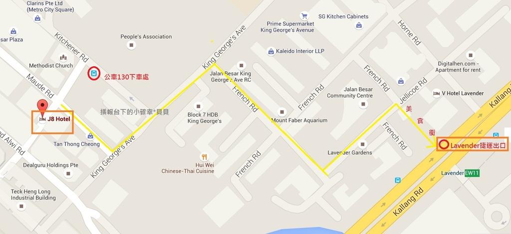 j8 hotel map