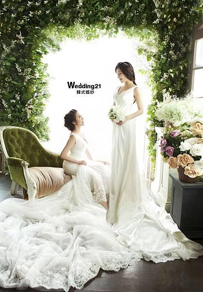 雙胞胎依依佩佩婚紗照韓國