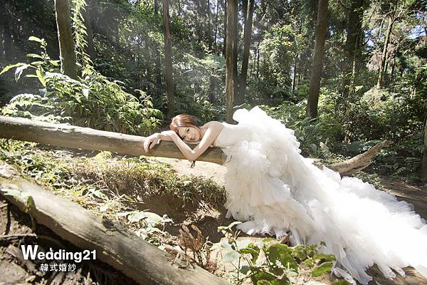 wedding21韓式婚紗 韓風 韓國 自助婚紗 蕾絲 馬甲  桃園 明星開店 雙胞胎 依依佩佩