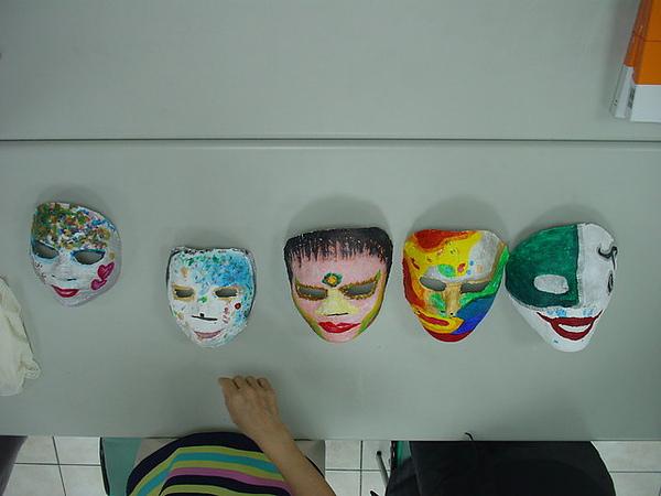 面具經過加工 變成令人驚艷的樣貌