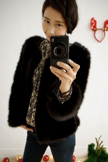 華麗長絨短外套