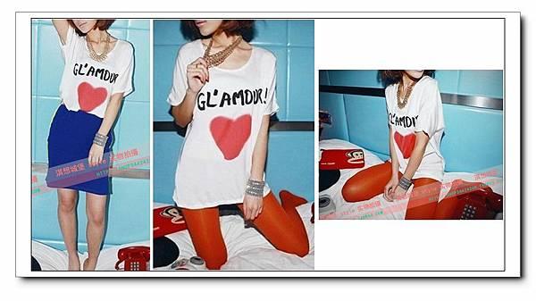 愛心字母蝙蝠袖真絲質感造型T恤1.jpg