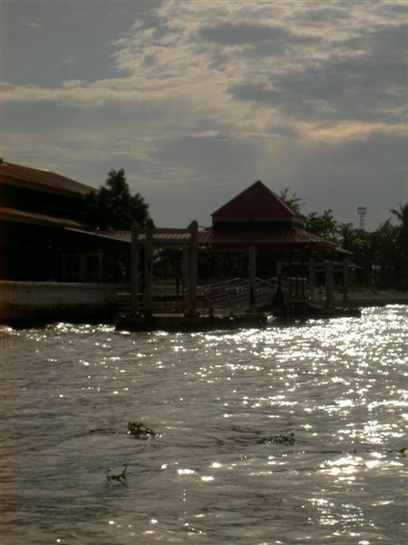 太陽灑在河上真美