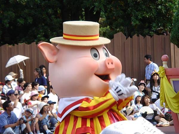 笑得很燦爛的一隻小豬