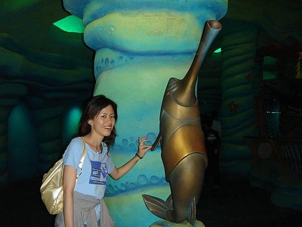 是小美人魚中,海底王宮的動物