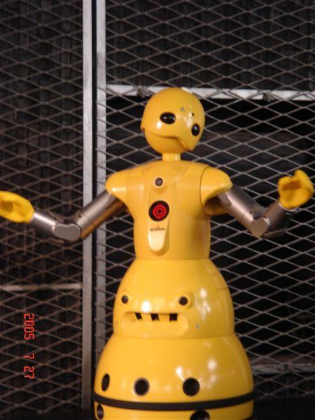 會動的機器人喔!