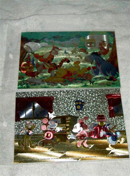 米老鼠跟維尼的postcard