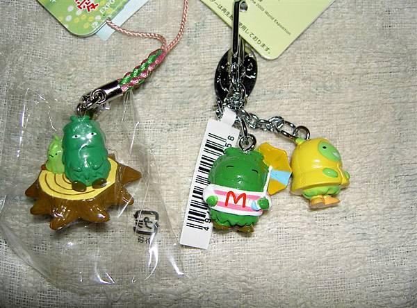 森林爺爺跟森林小子的手機吊飾+鑰匙圈