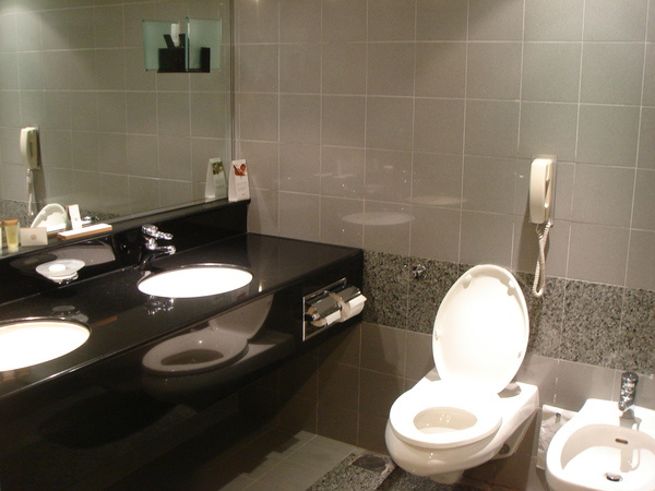 飯店房間的衛浴