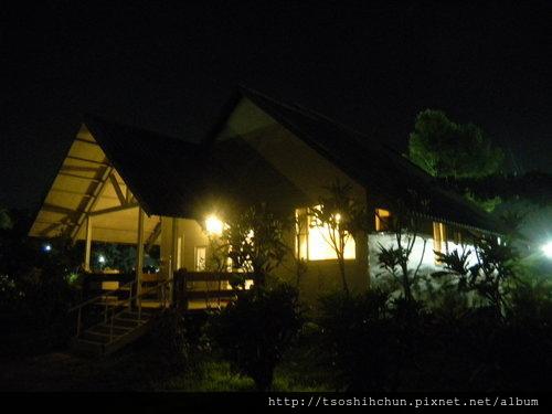 歐式別墅夜景