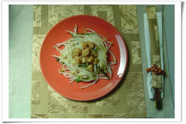 簡單的燙青菜 + 「干貝醬」....就是一道神奇的好料理