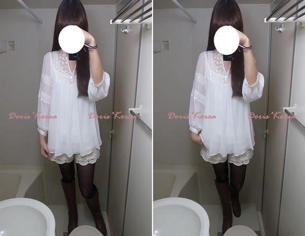 Mar韓 115-布蕾絲鬆緊短褲002