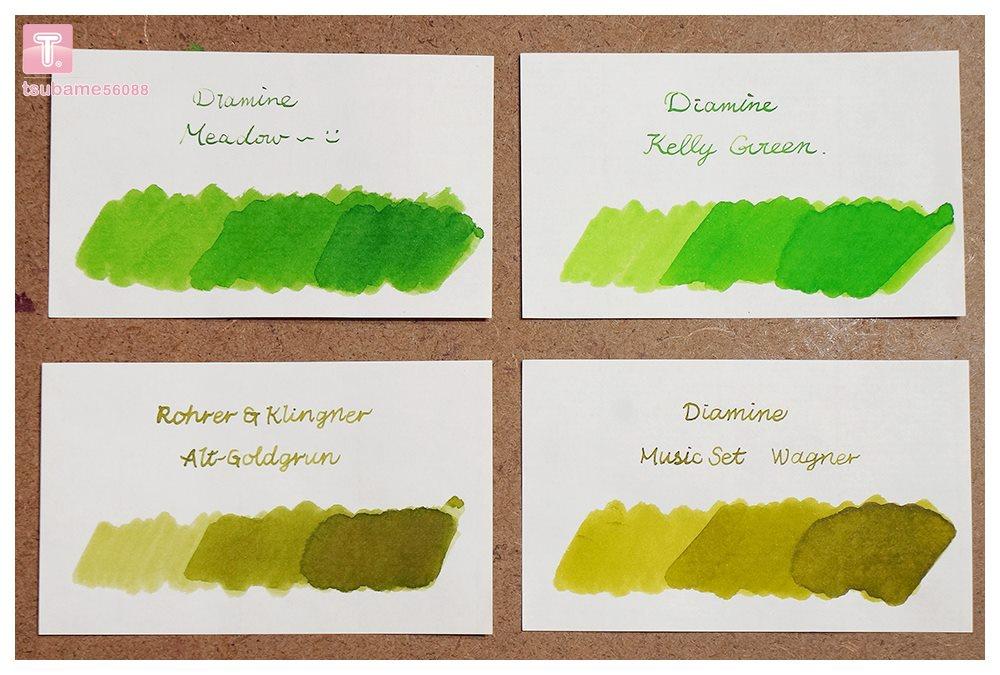 有關於綠色的顏色比較