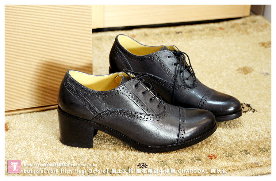 bussola【York High Heel Oxford】 爵士女伶 雕花粗跟牛津鞋_CHARCOAL 炭灰色