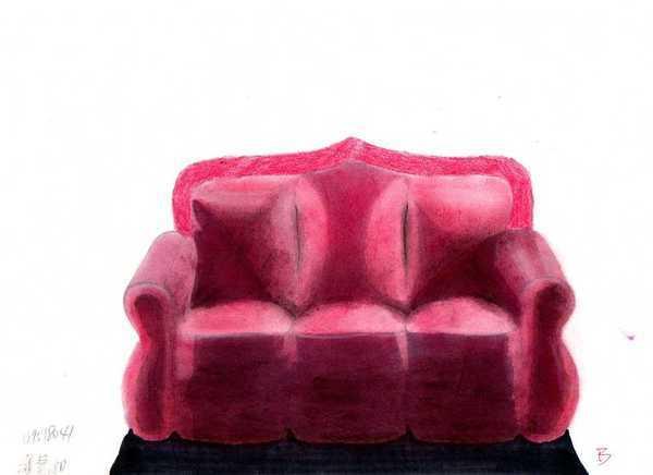 粉彩皮製沙發