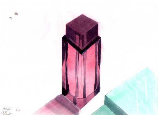 粉彩香水瓶