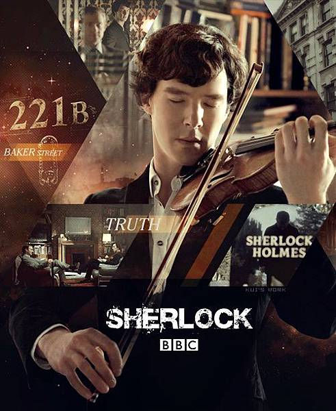 Benedict Cumberbatch as Sherlock Holmes in BBC Sherlock