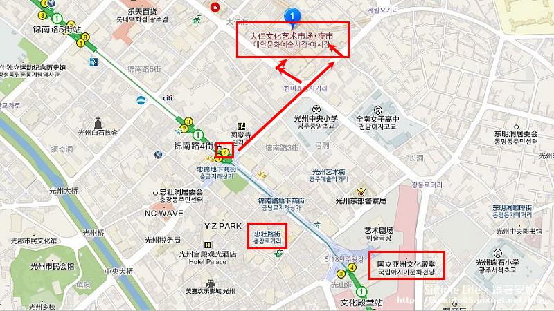 【韓國|光州】錦南路四街站|大仁藝術市場대인예술시장(夜市)。韓國代表景點100選.傳統市場與藝術結合的特色夜市
