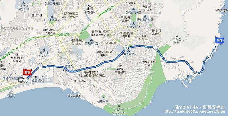 海雲台飯店到青沙浦計程車.JPG