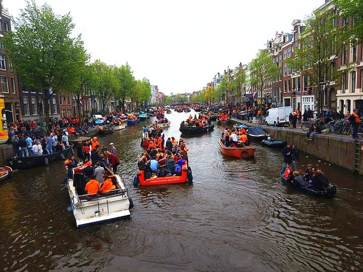 荷蘭國王節 坐船