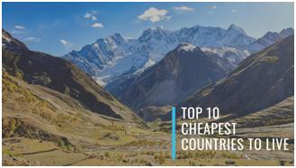 最便宜的國家; 去哪裡旅行; 物價低國家