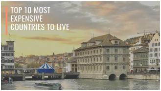 最貴的國家; 去哪裡旅行; 物價高國家