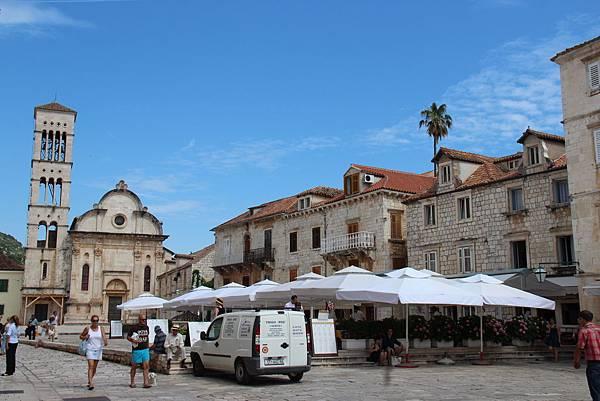 Croatia, Hvar-120611-133-史特亞波納教堂與廣場