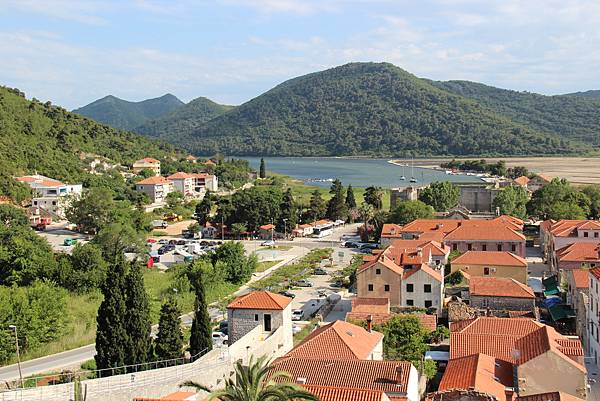 Croatia, Ston-120612-027-史東城牆遠眺