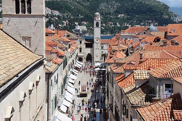 Croatia, Dubrovnik-120613-175-史特拉墩大道與鐘樓