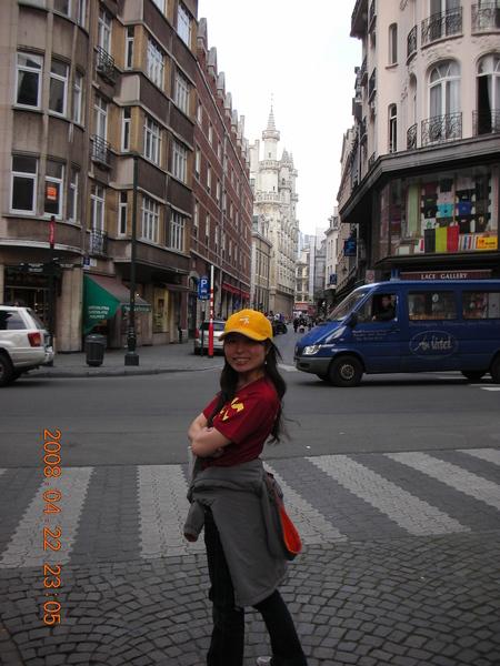 布魯塞爾的街頭..巧克力的故鄉