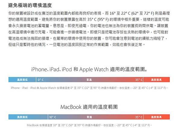 apple鋰電池溫度