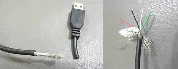 USB€原廠傳輸線結構