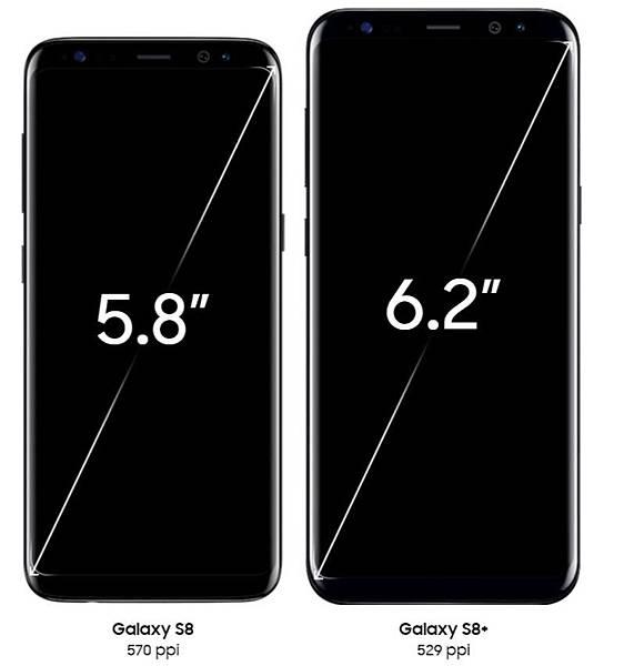 s8 s8+螢幕尺寸