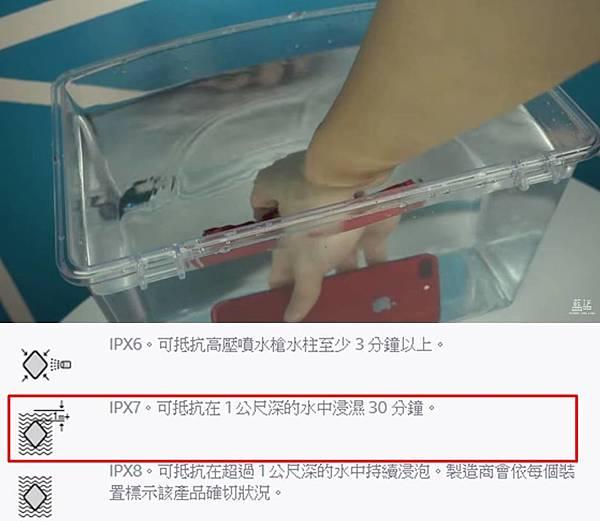 i7防水測試