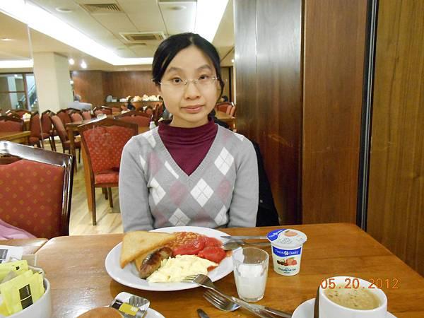 飯店的English Style Breakfast.JPG