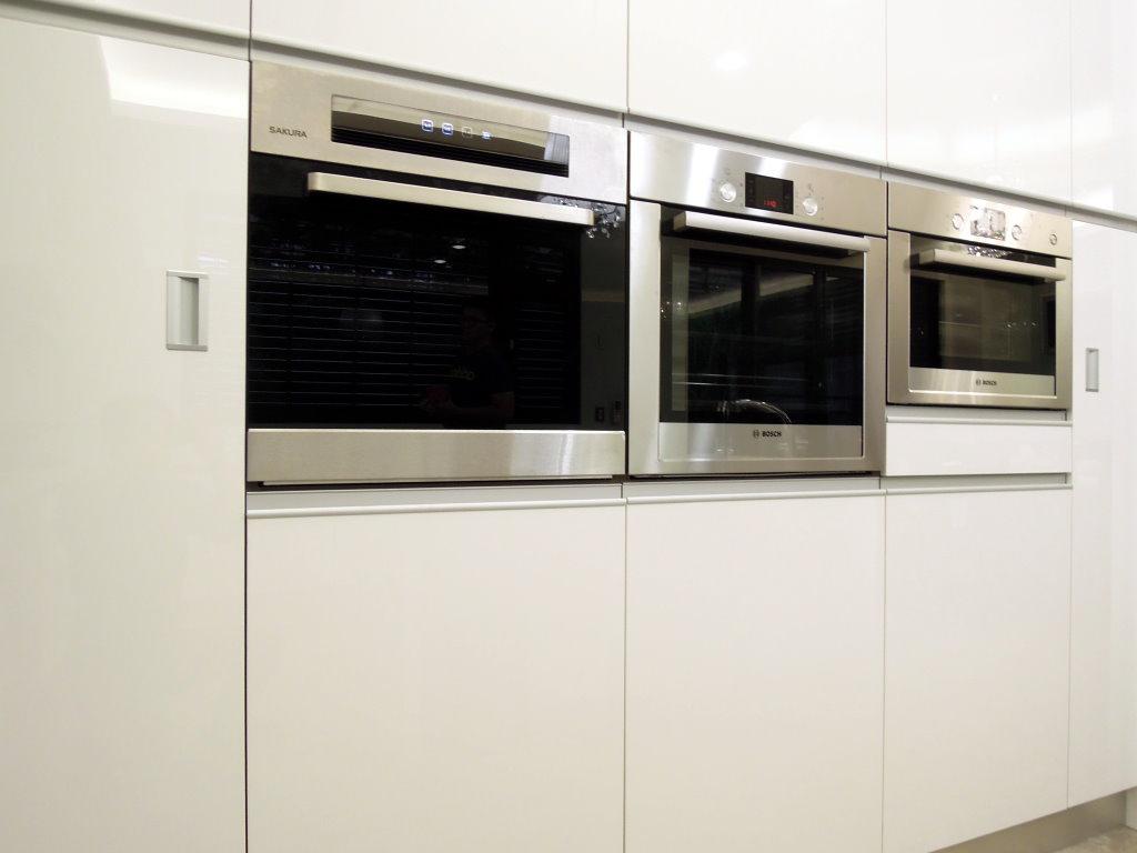 BOSCH蒸爐+烤箱+櫻花炊飯鍋收納櫃