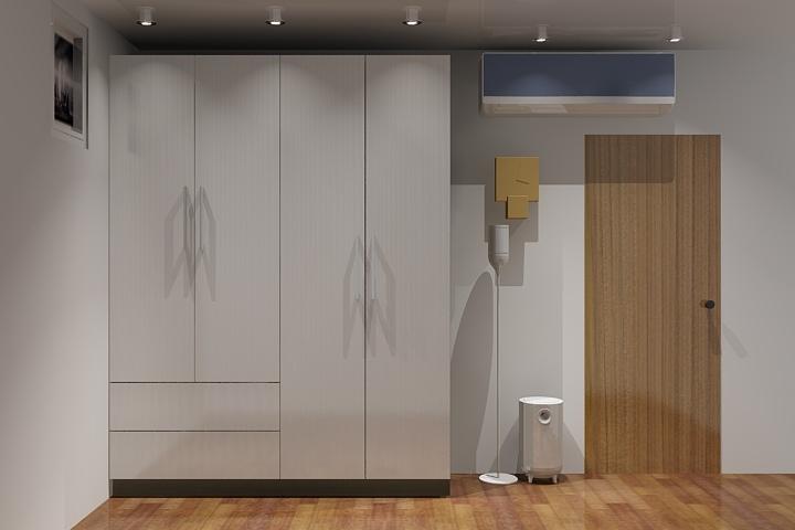 衣櫃方案立體圖